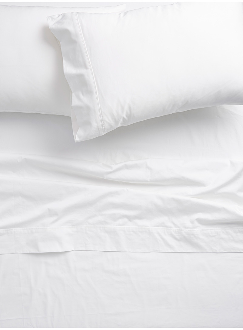 Liquid cotton sheet set, 500 thread count  Fits mattresses up to 15 in. - Natural Fibres - White