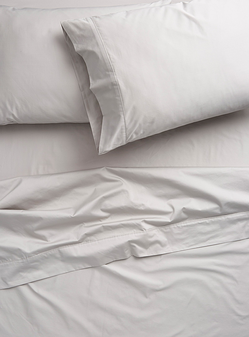 Liquid cotton sheet set, 500 thread count  Fits mattresses up to 15 in. - Luxurious Cotton - Light Grey