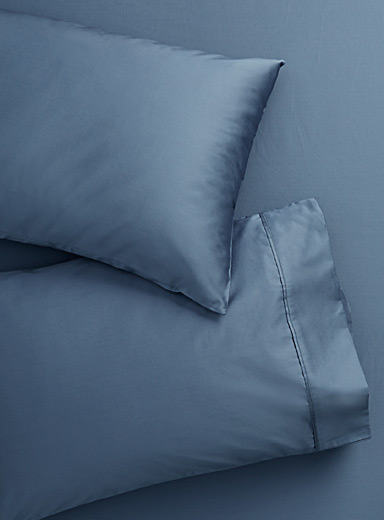 Simons Maison Dark Blue Liquid cotton pillowcases  Set of 2