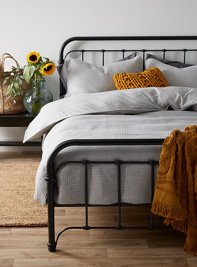 Quilted jersey coverlet set - Comforters & Coverlets - Light Grey