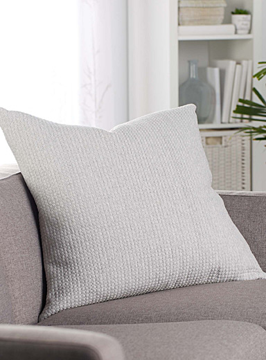 Mini diamond chambray Euro cushion  26&quote; x 26&quote;