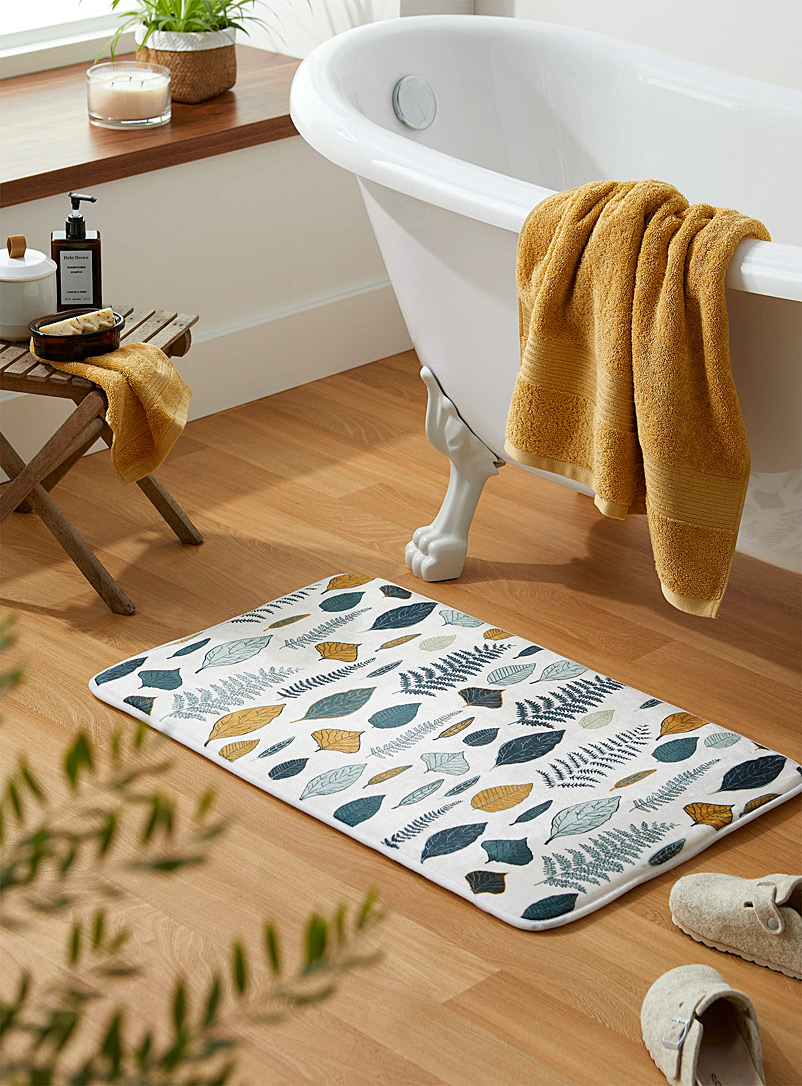 Simons Maison Assorted Fall foliage bath mat  50 x 80 cm