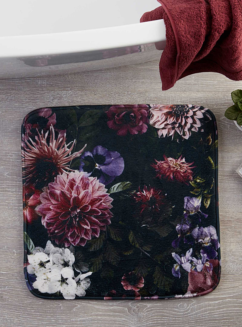 Fantasy garden bath mat  50 x 50 cm - Printed - Assorted