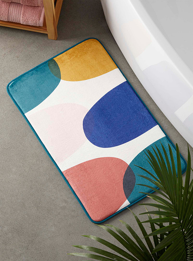 Simons Maison Assorted Multicolour pebble memory foam bath mat  50 x 80 cm
