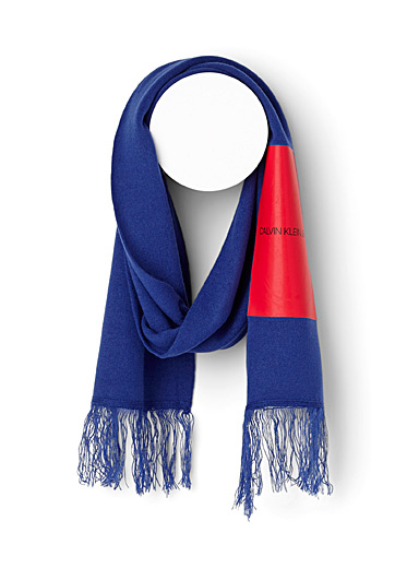 Coated logo scarf