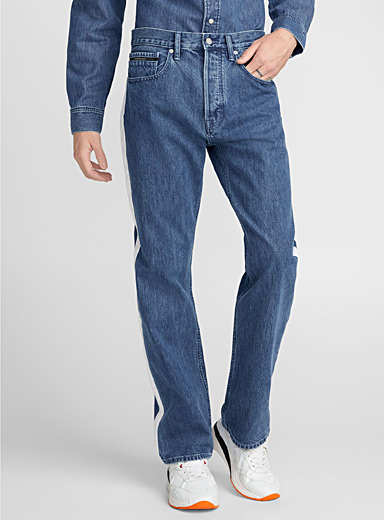 Contrast-band jean <br>Straight fit