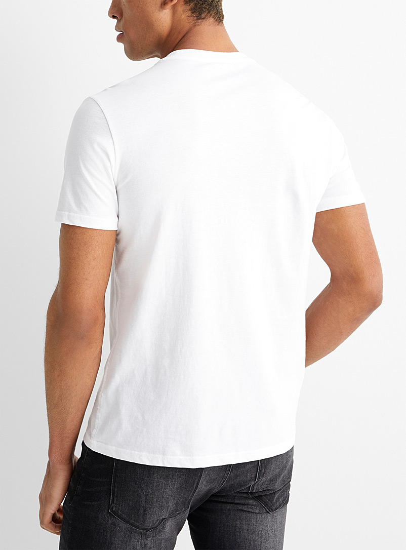 Calvin Klein Ivory White Monogram CK T-shirt for men