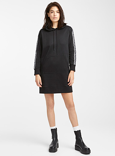 Logo band hoodie dress