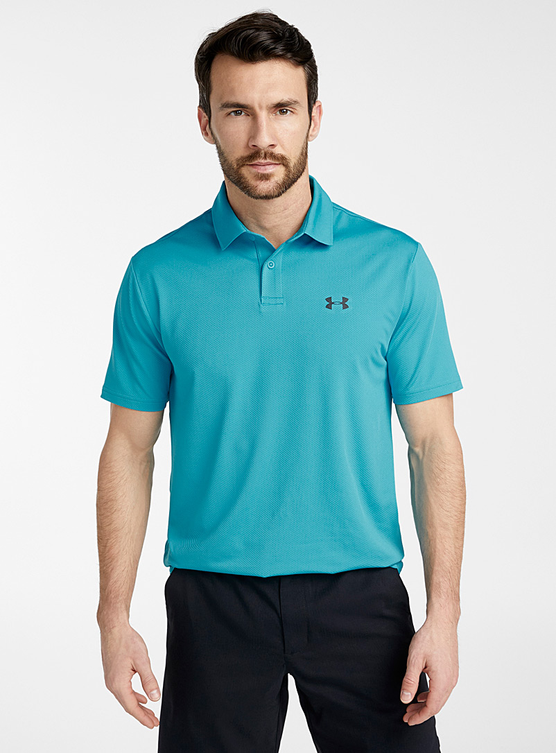 Under Armour Teal Performance micro-piqué polo for men