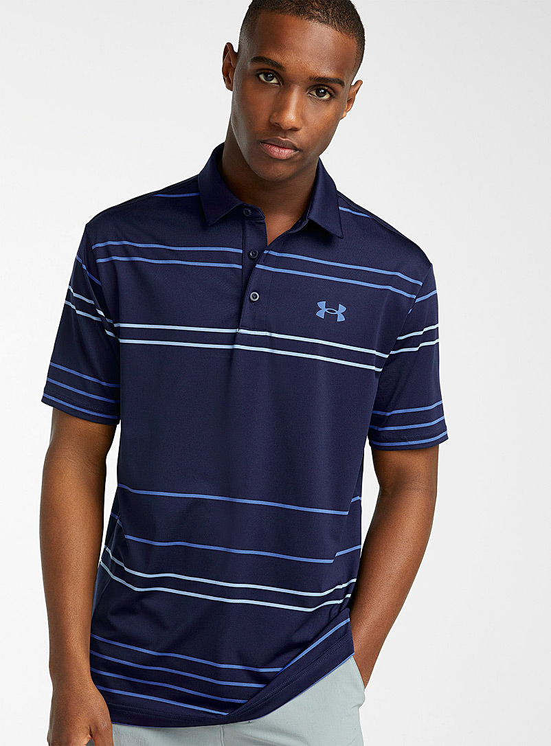 Under Armour Patterned Blue Ultra-soft Playoff polo for men
