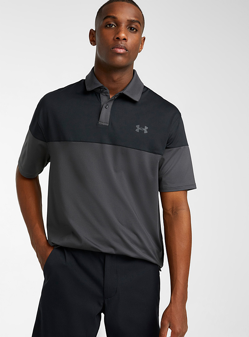 Under Armour Grey Ultra-soft two-tone polo for men