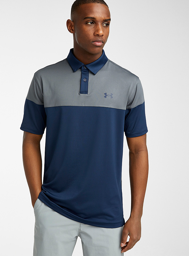 Under Armour Marine Blue Ultra-soft two-tone polo for men