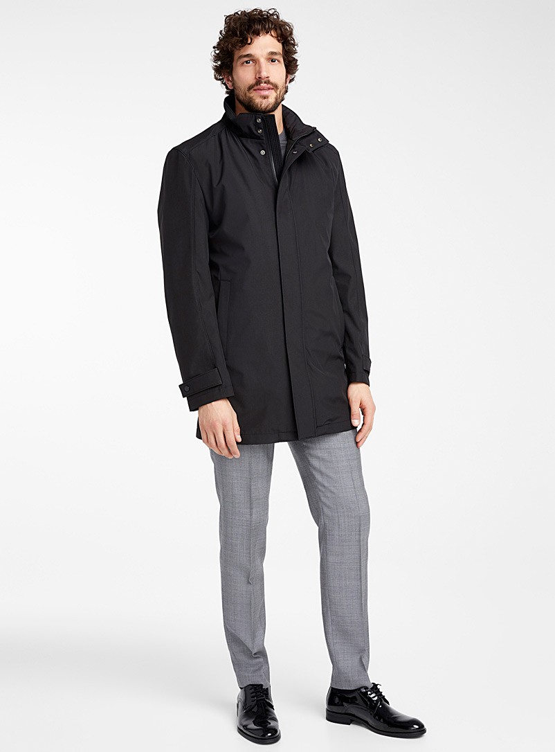 Strellson Black Two-way overcoat for men