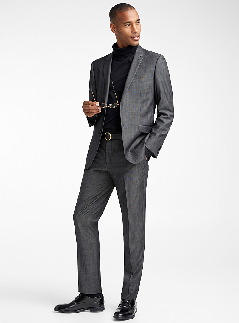 Marzotto Traveller suit  London fit-Semi-slim - Semi-slim Fit - Grey