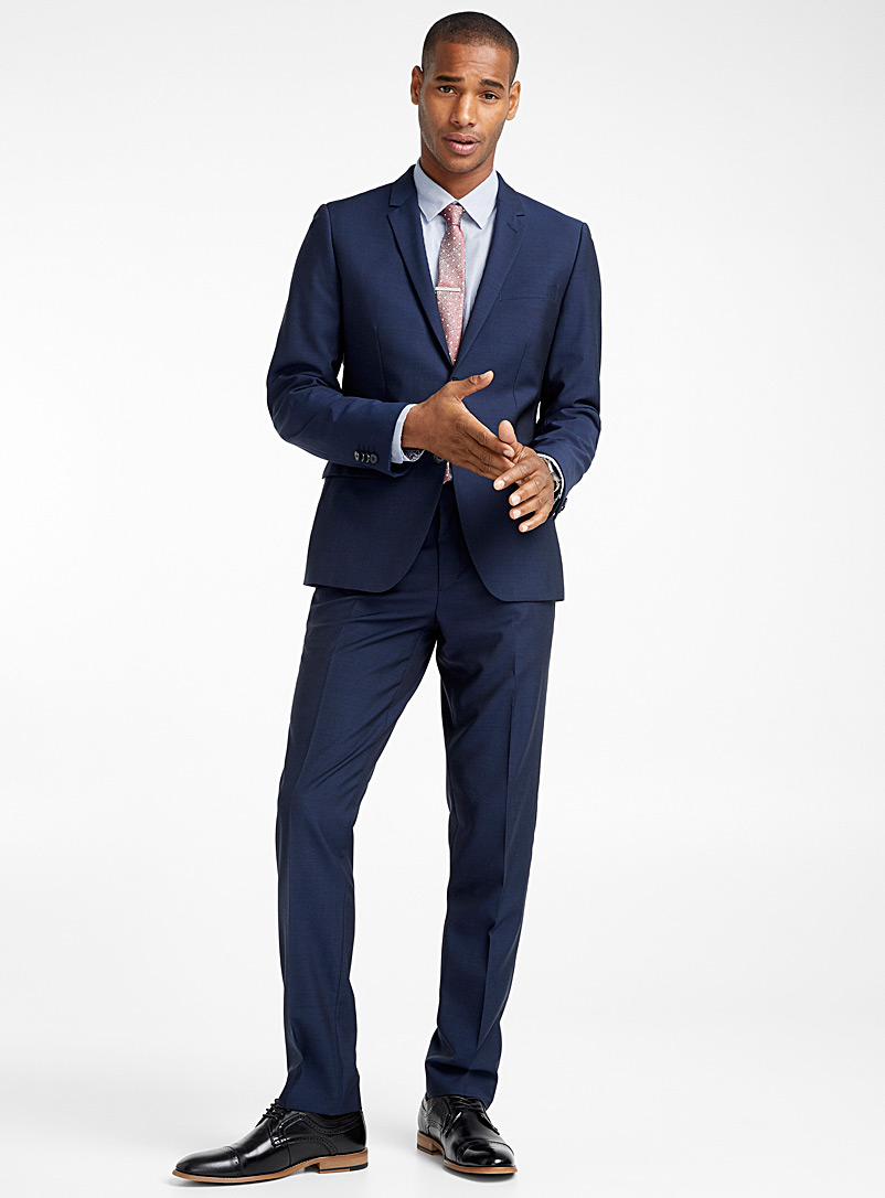 Marzotto Traveller suit  London fit-Semi-slim - Semi-slim Fit - Marine Blue