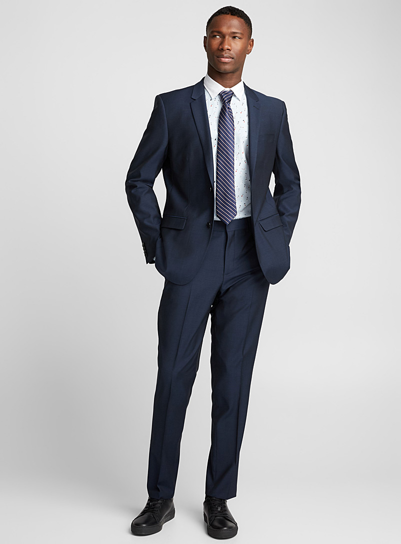 Marzotto Traveller suit  London fit-Semi-slim - Semi-slim Fit - Dark Blue