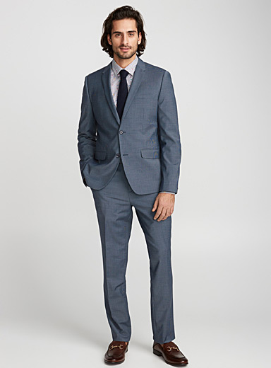 Micro houndstooth suit  London fit - Semi-slim