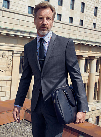 Grey-blue Prince of Wales suit  Berlin fit - Regular