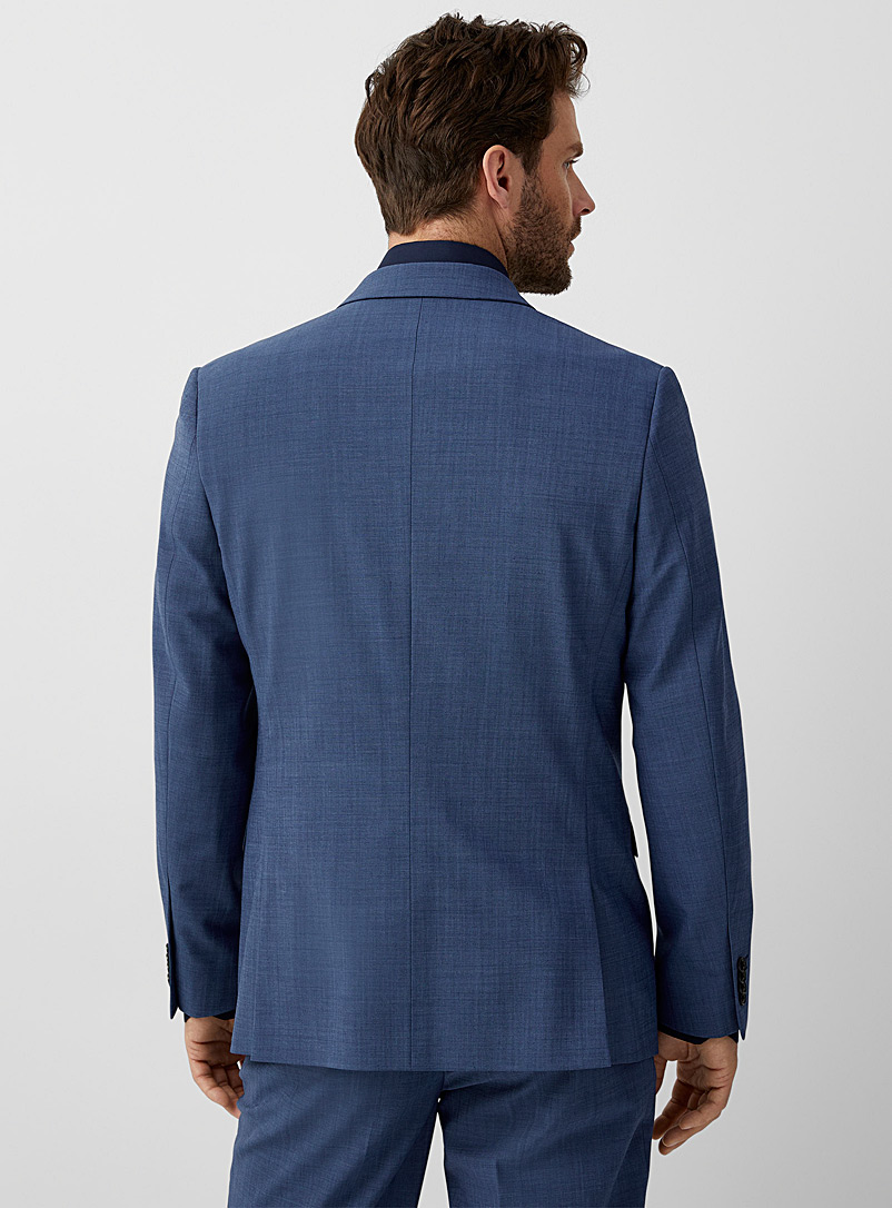 Le 31 Black Recycled polyester and wool jacket  London fit - Semi-slim for men