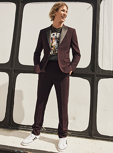 Recycled polyester tuxedo pant  Stockholm fit-Slim