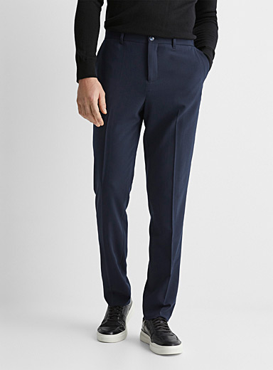Comfort waist navy technical pant  Stockholm fit-Slim