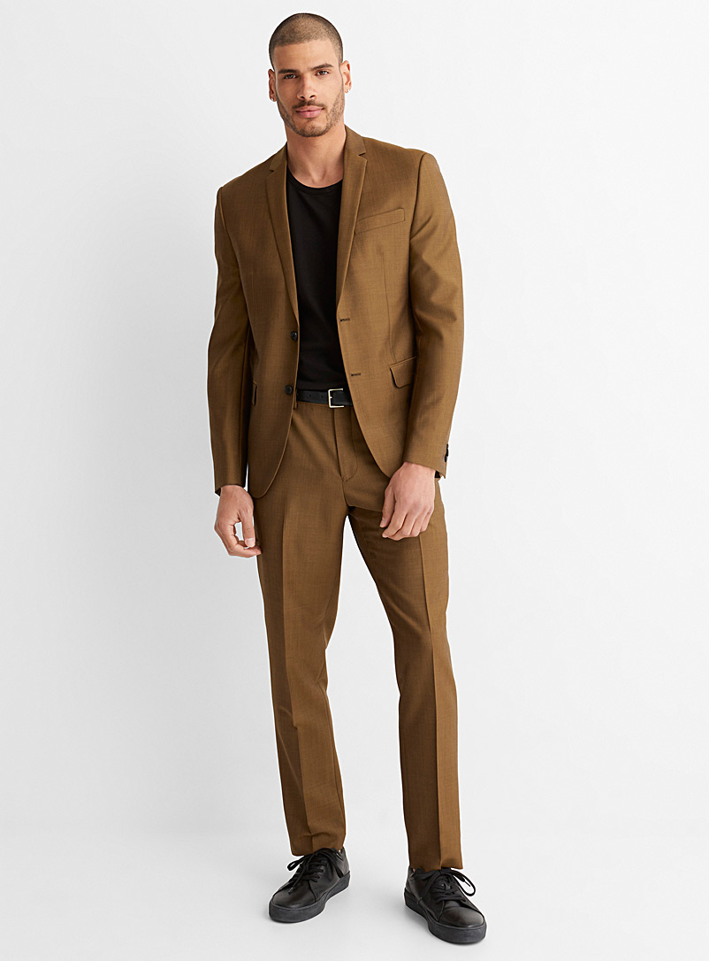 Coppery chambray suit London fit - Semi-slim