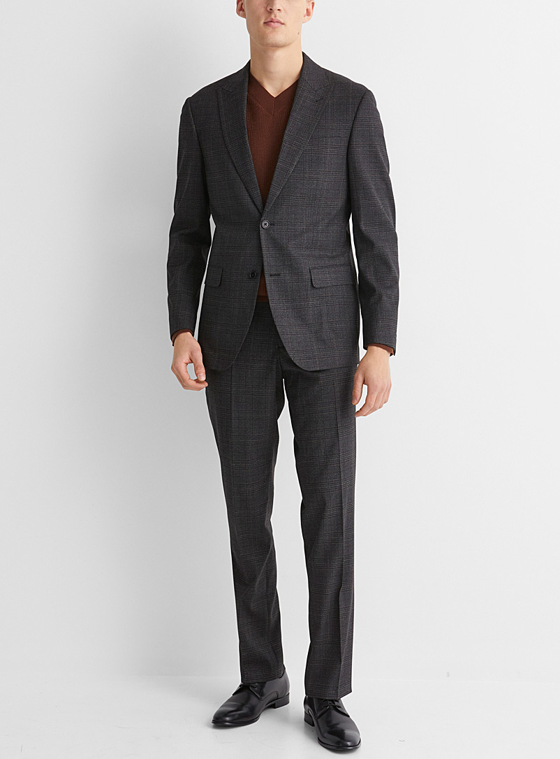 Earthy check suit  London fit - Semi-slim