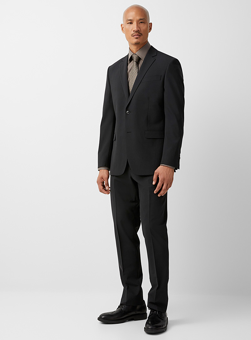 Le 31 Black Recycled polyester and wool stretch jacket Berlin fit-Regular for men