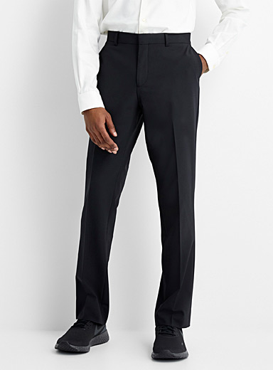 Recycled polyester and wool stretch pant Berlin fit-Straight