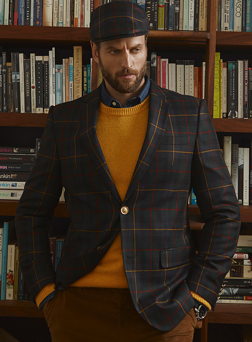Scottish check jacket  London fit - Semi-slim