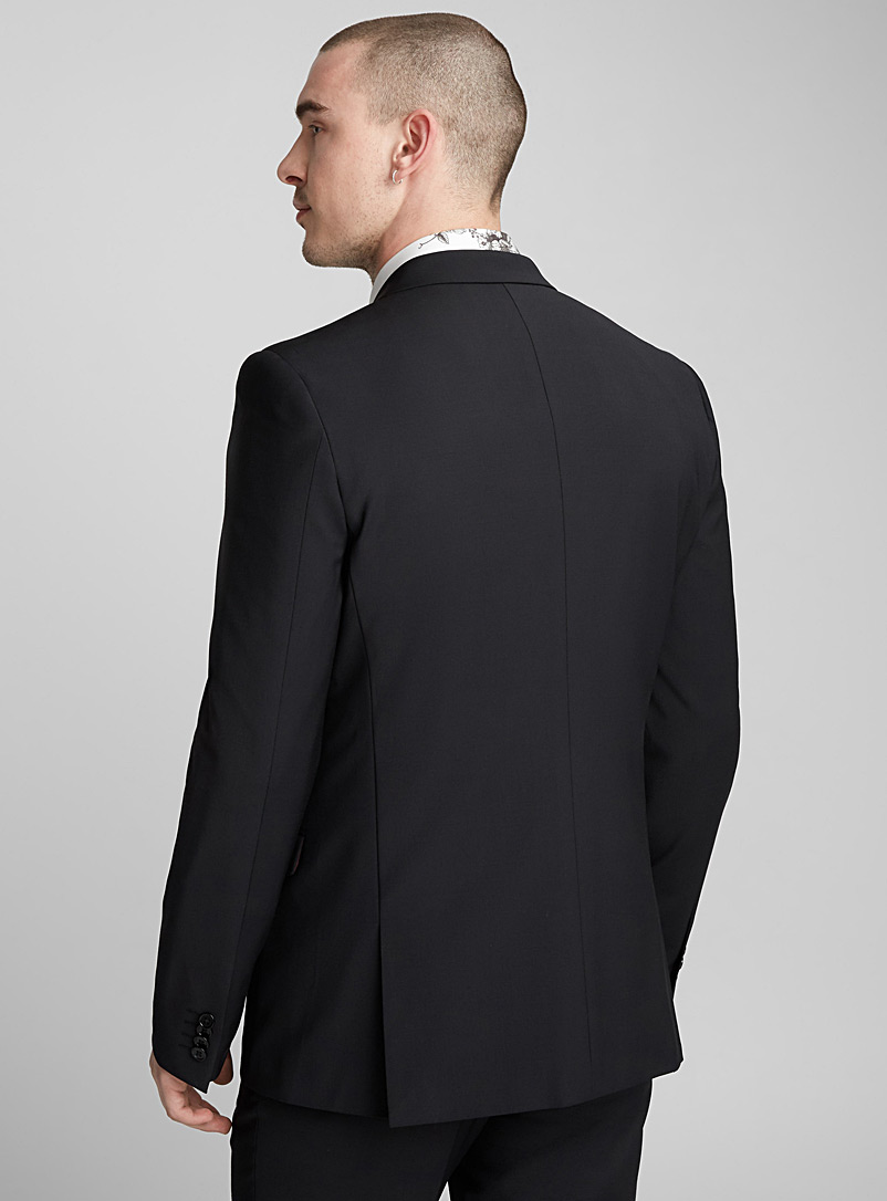 Monochrome stretch jacket  London fit - Semi-slim - Suit Separates - Black