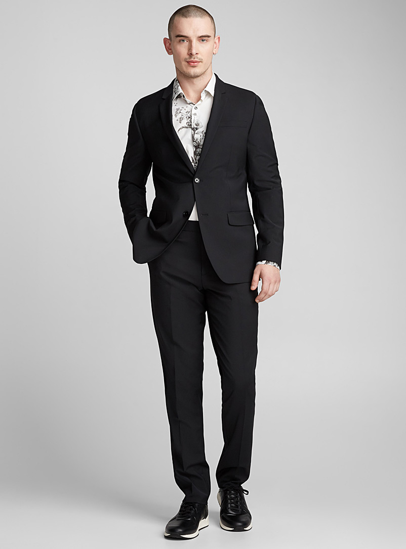 Minimal stretch jacket  London fit - Semi-slim - Suit Separates - Black