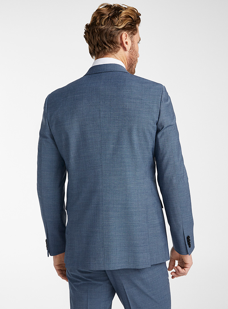 Le 31 Blue Monochrome stretch jacket  London fit - Semi-slim for men