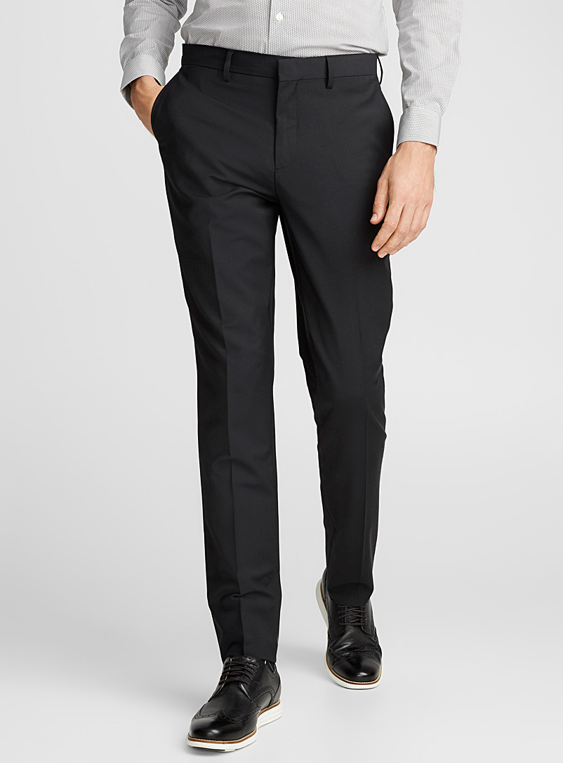 Monochrome stretch pant  London fit - Slim straight - Suit Separates - Black