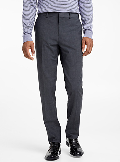 Le 31 Grey Monochrome stretch pant  London fit - Slim straight for men