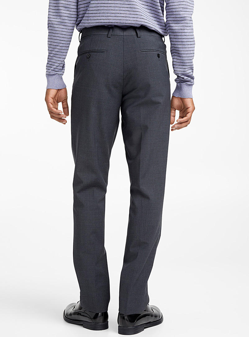 Minimal stretch pant  London fit - Slim straight - Suit Separates - Grey