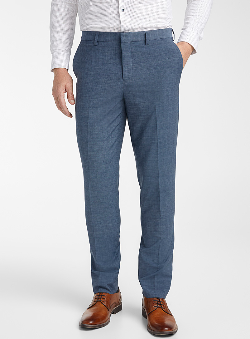 Monochrome stretch pant  London fit - Slim straight - Suit Separates - Blue
