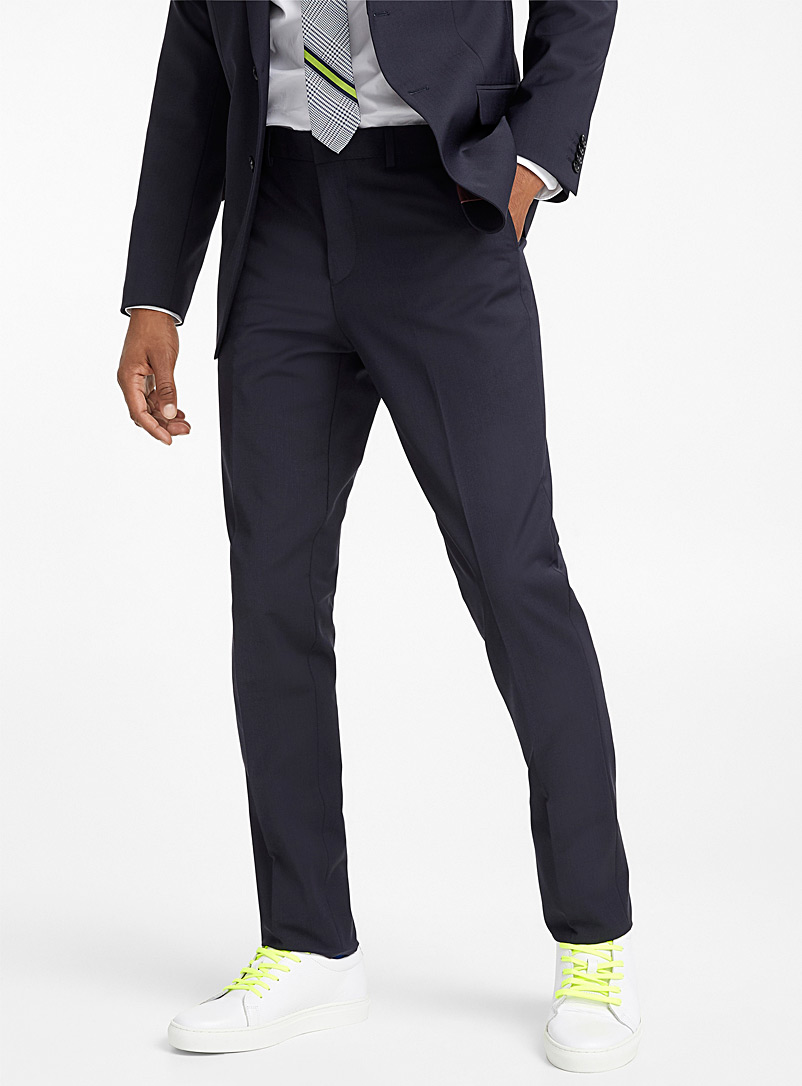 Minimal stretch pant  London fit - Slim straight - Suit Separates - Marine Blue