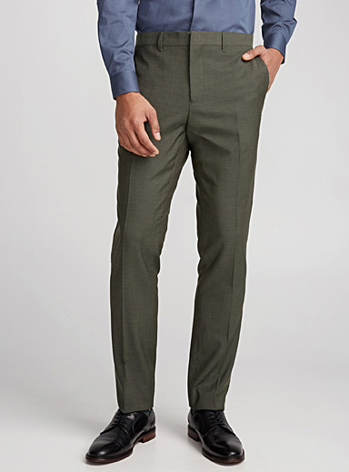 Chambray Marzotto wool pant  London fit-Slim