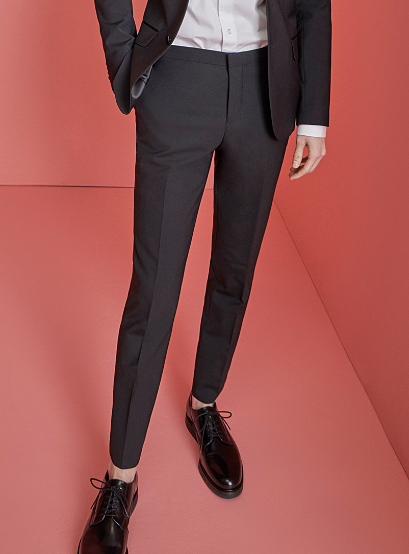 Le 31 Black Tuxedo pant  Stockholm fit-Slim for men