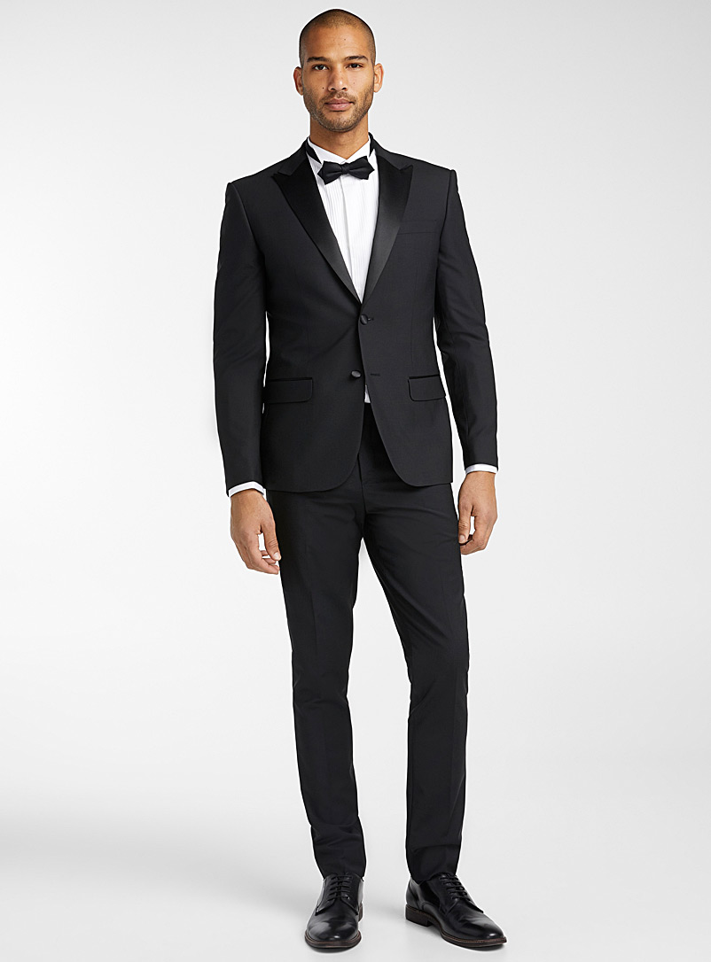 Le 31 Cherry Red Tuxedo pant  Stockholm fit-Slim for men