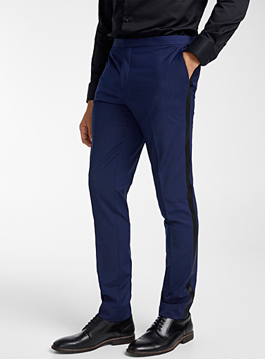 Le 31 Blue Tuxedo pant  Stockholm fit-Slim for men