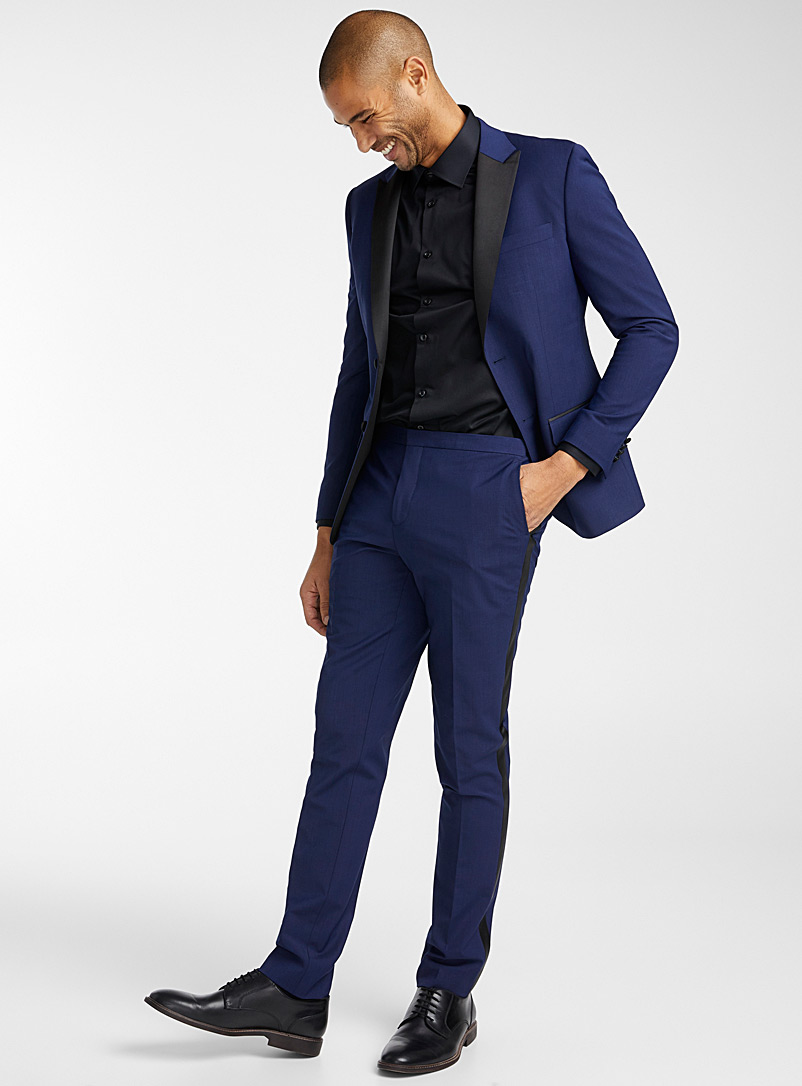 Tuxedo pant  Stockholm fit-Slim - Suit Separates - Blue