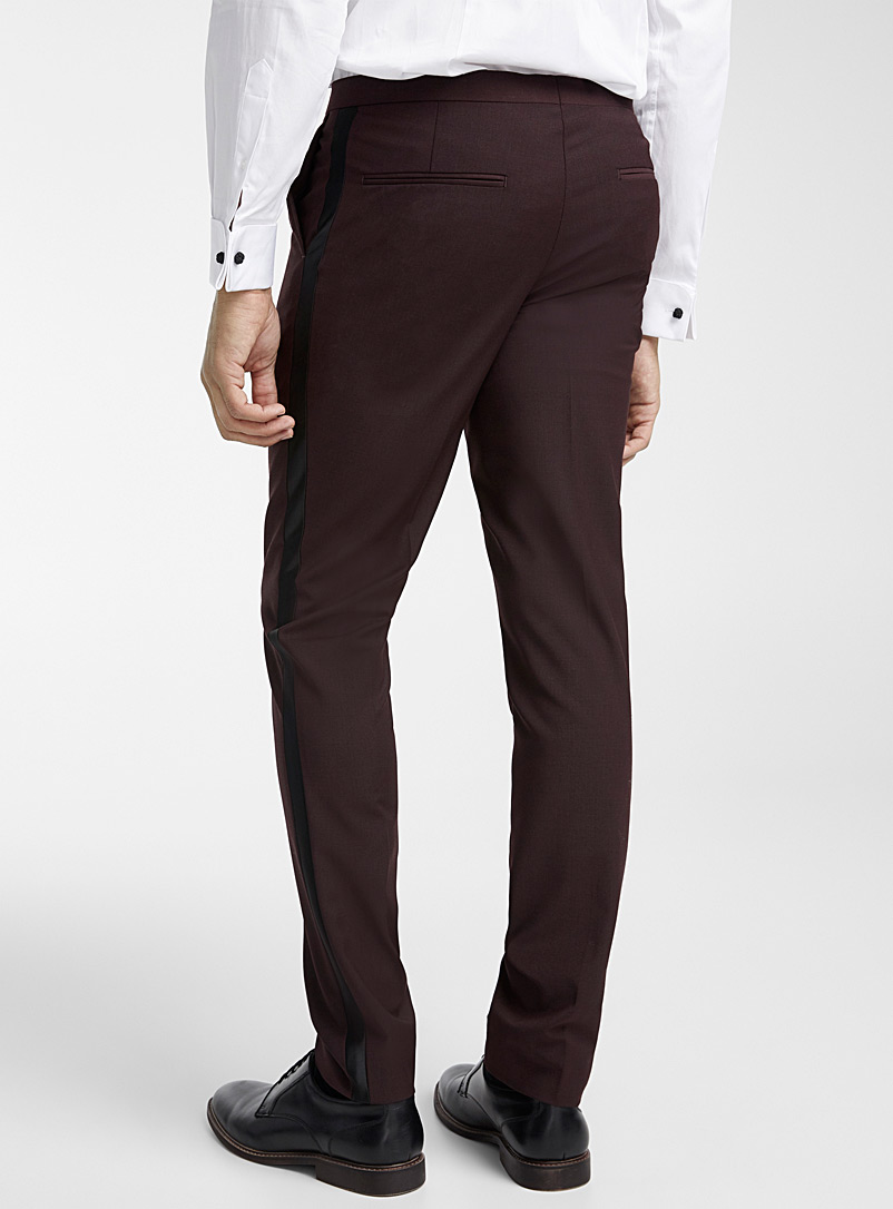 Tuxedo pant  Stockholm fit-Slim - Suit Separates - Cherry Red