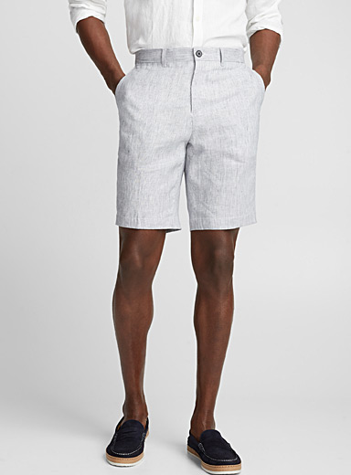 Linen striped Bermudas