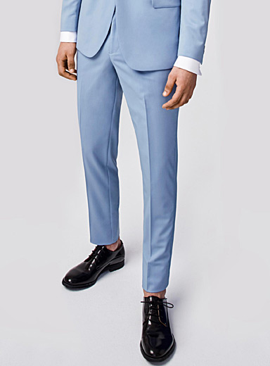 Pastel Italian wool Marzotto pant  London fit-Slim straight