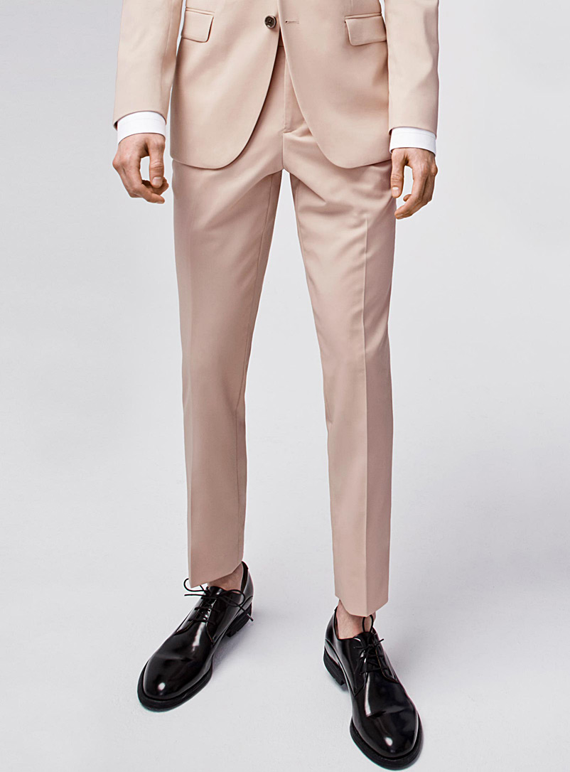Pastel Italian wool Marzotto pant  London fit-Slim straight - Suit Separates