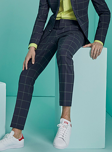 Neon windowpane check pant  Stockholm fit-Slim