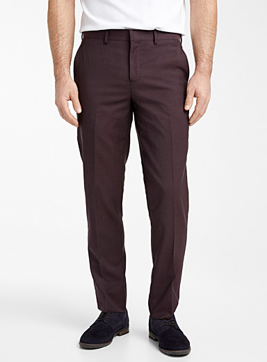 Le 31 Peach Dark chambray Marzotto wool pant  Berlin fit-Straight for men