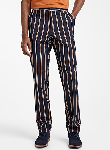 Organic cotton accent stripe pant  London fit - Slim straight